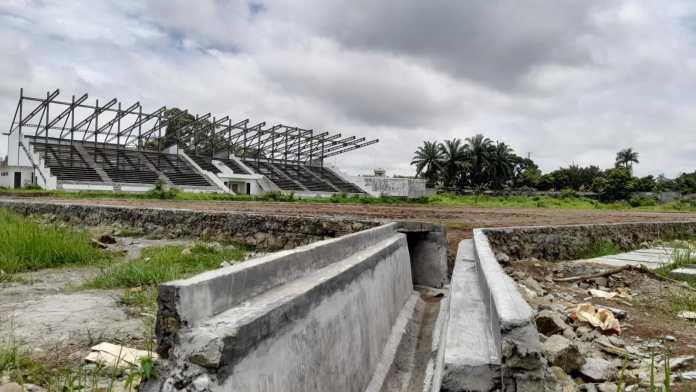 Ini Penampakan Pembangunan Stadion Sangnaualuh Usai Rp22 Miliar Dikucurkan