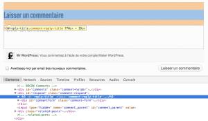 Inspection d'une page Web avec Google Chrome