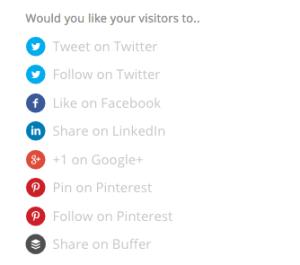 Hello Bar : réseaux sociaux