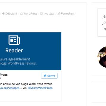 WordPress nous génère un magnifique widget Twitter !