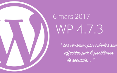 La version 4.7.2 de WordPress est affectée par 6 failles de sécurité !