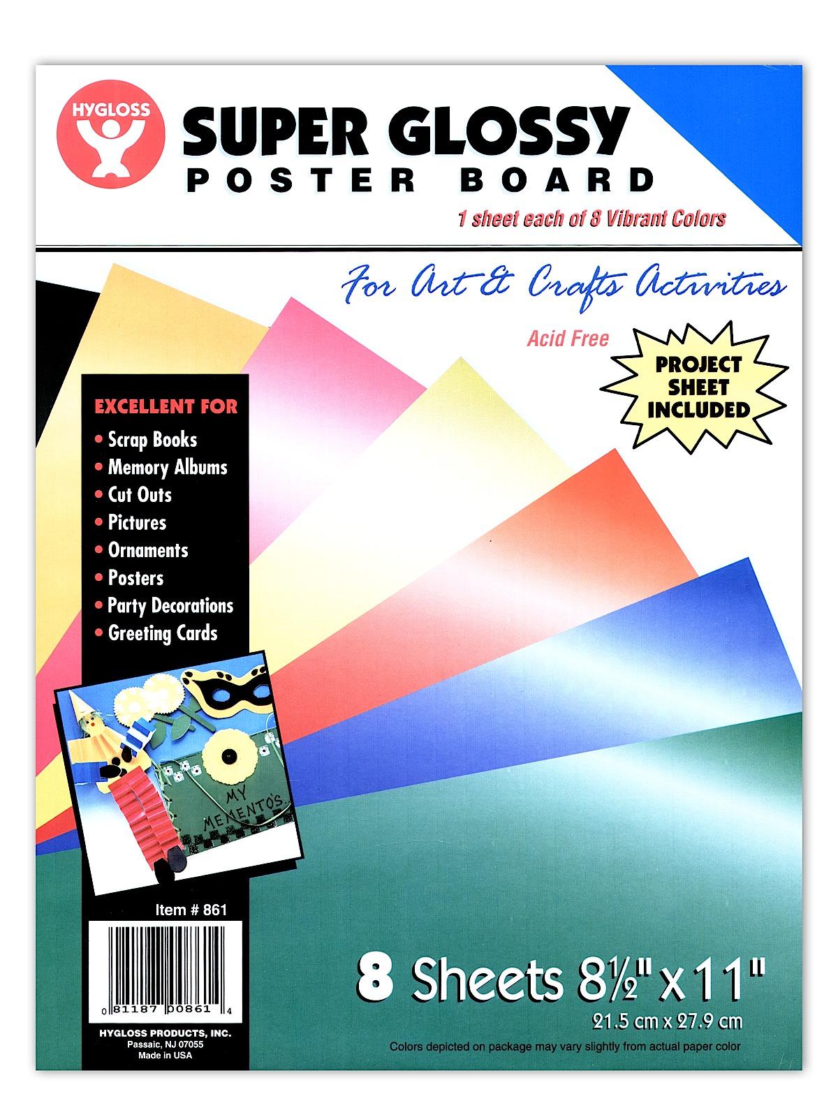 super glossy poster board
