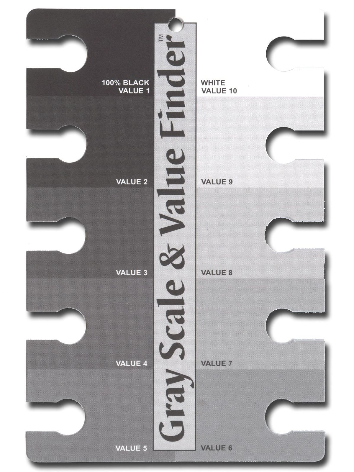 The Color Wheel Company Gray Scale And Value Finder