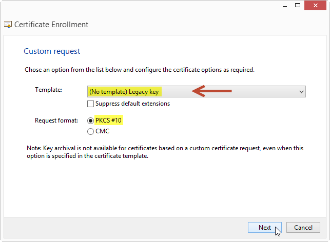 How to request custom certificates using the mmc snapin mister a range of systems and services does not support cng based certificates but require certificates to be based on a legacy csp yelopaper Choice Image