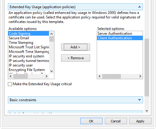 How to request custom certificates using the MMC snapin