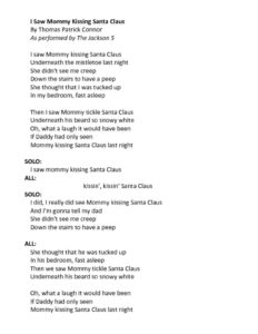 thumbnail of I Saw Mommy Kissing Santa Claus Lyrics