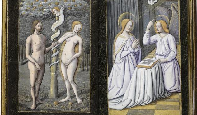 Edición clonada del 'Libro de horas' de Enrique IV de Francia, que forma parte de la exposición 'Tesoros bibliográficos. El arte y el genio al servicio del poder' . CASA DE GALICIA