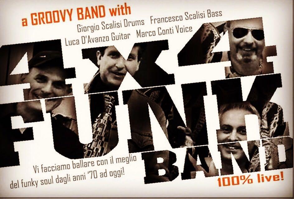 31 Dicembre il Groove dei 4X4 Funk Band