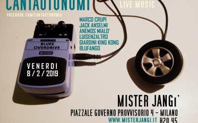 Venerdi Cantautomi Cena & Musica