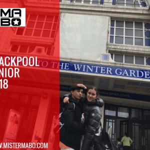 Blackpool Junior: prima gara per la coppia formata da Edoardo & Irene