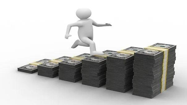 person running up cash ramp