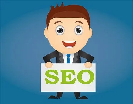 Permalinks- boy holding seo sign