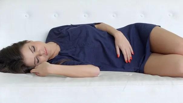 Lack of sleep- girl sleeping on bed