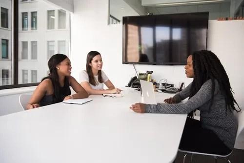 job interview preparation- 3 people interviewing