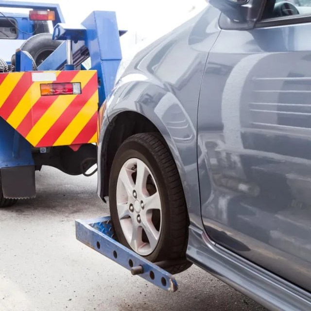 Best roadside assistance- car being towed