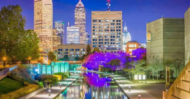 Most affordable U.S. cities- tall buildings with walkways and streetlights