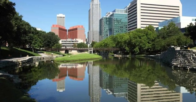 Most affordable U.S. cities- City buildings with a lakeside setting