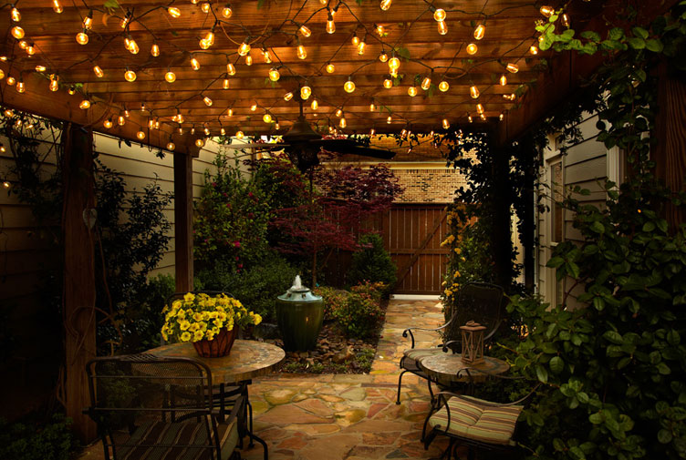 Accent Lighting Ideas | Mister Sparky Electrician Tulsa ... on Backyard String Light Designs id=73101