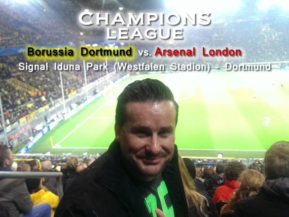 Mein erster Besuch bei der Champions League – Wenn Borussia Dortmund ruft, kommen Arsenal London und ich ins Stadion.
