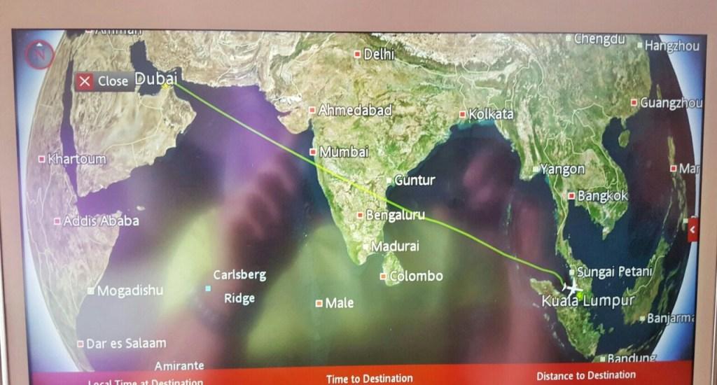 Gegen 1 Uhr nachts ging es dann mit meinem Anschlußflug endlich weiter. Kuala Lumpur war nur noch 7 Stunden Flugzeit entfernt. *YEAH
