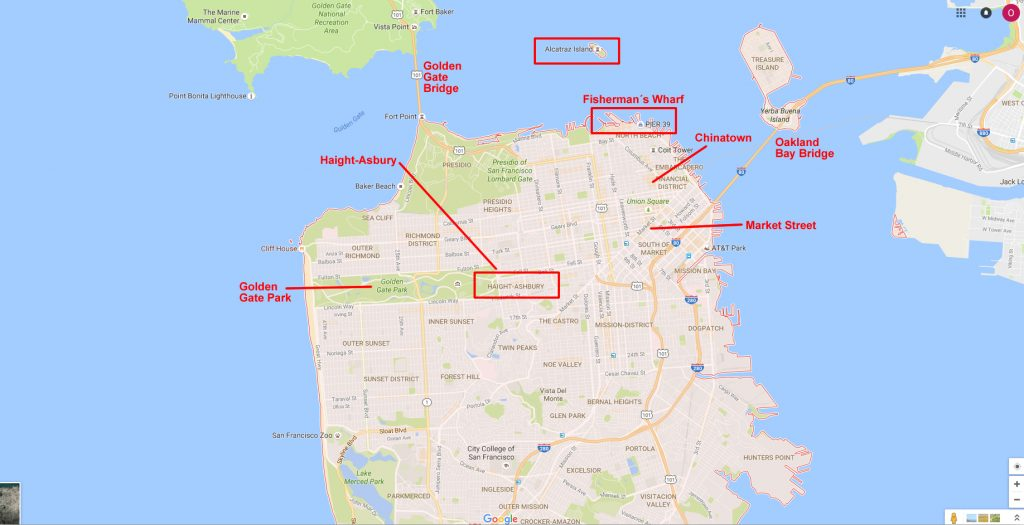 Karte - San Francisco