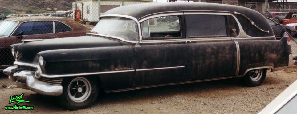 54 Caddy Hearse Frontview   1954 Cadillac Hearse   Hearses     54 Caddy Hearse Frontview
