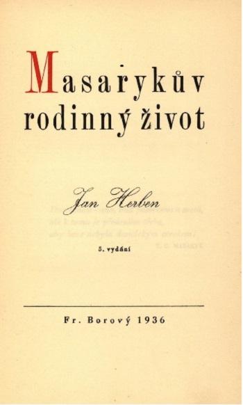 Kniha: Masarykův rodinný život