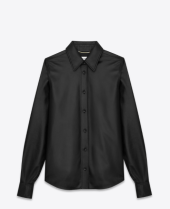 Saint Laurent Flare Collar Shirt in Black Leather http://www.ysl.com/us/shop-product/women/ready-to-wear-classic-shirts-flare-collar-shirt-in-black-leather_cod38462034bl.html#section=women_rtw_leather