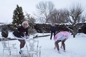 sissy snowball fight