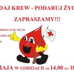 Oddaj krew - podaruj życie. Zbiórka krwi przy Przedszkolu nr 152