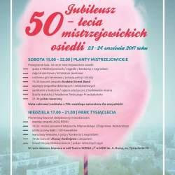 Jubileusz 50-lecia mistrzejowickich osiedli