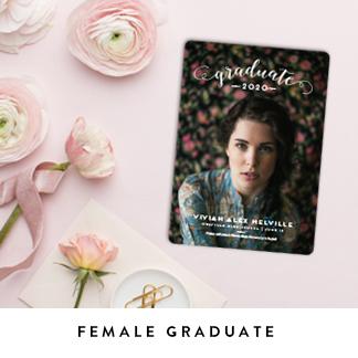 Female Graduation Announcements