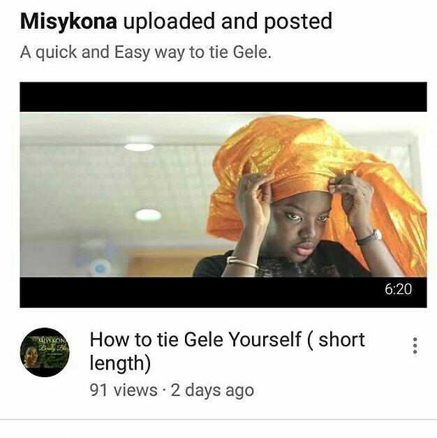 How to Tie small GELE ( Small length)