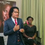 Lancôme event in Lagos.