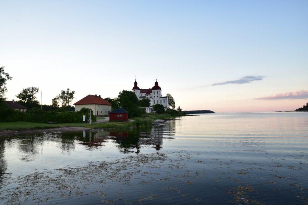 Schloss Läckö im Abendlicht