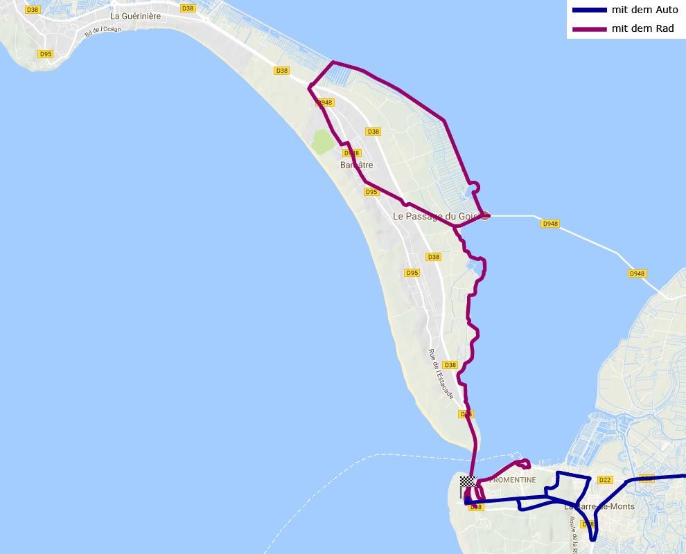 Île de Noirmoutier und Formentine mit dem Rad