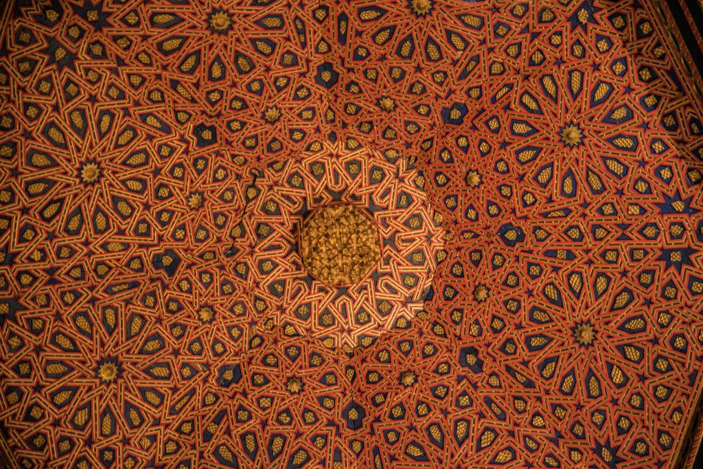 Detail Decke im Thronsaal - Alcázar Segovia