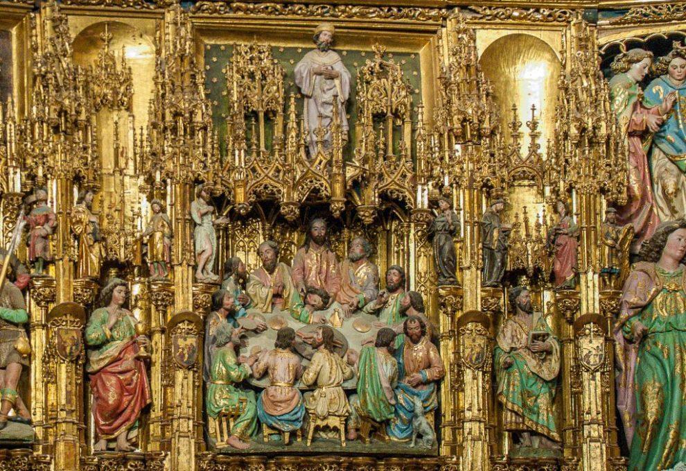 Abendmal - Retabel der Hauptkapelle - Kathedrale Toledo