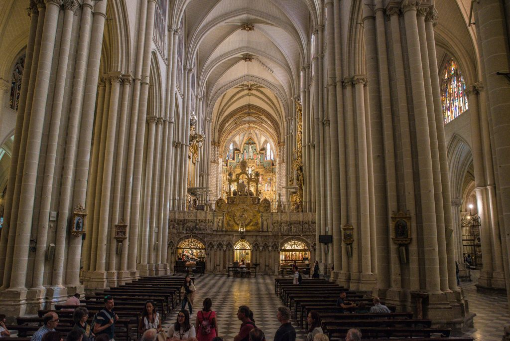 Blick vom Westportal - Kathedrale von Toledo