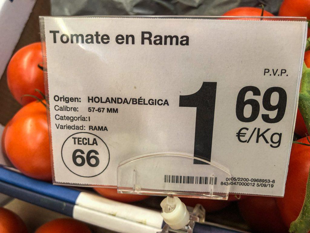 Beneluxtomaten in Spanien