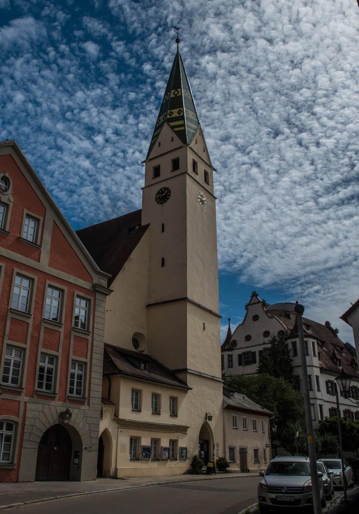 Stadtkirche, Altes Schloss im Hintergrund - Pappenheim