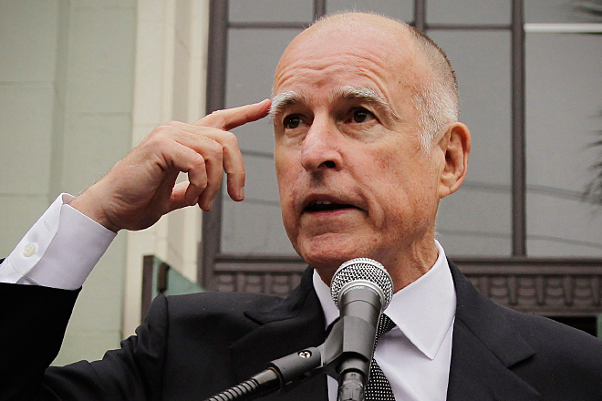 Image result for images of crazy jerry brown