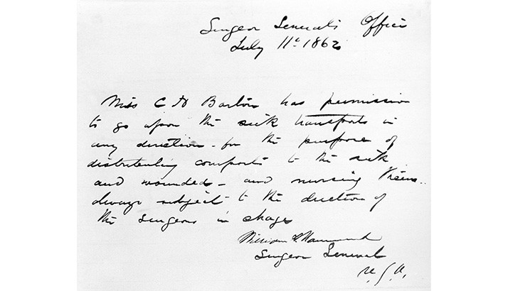 Clara-Barton-military-pass-1862