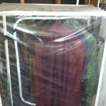 the now empty portable coat rack