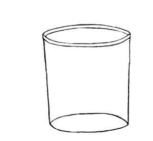 Ein Glas, das du anmalen kannst, wie du dir dein Lieblingsglas vorstellst.