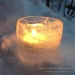Ein Windlicht aus Eis
