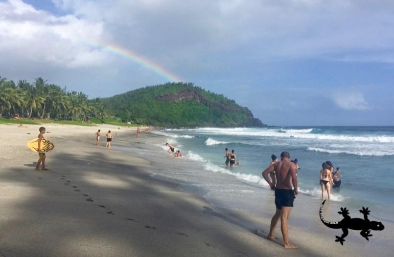 Rainbow on Petite Ile island