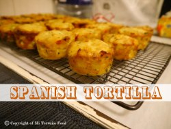 spanish tortilla on a cooling rack