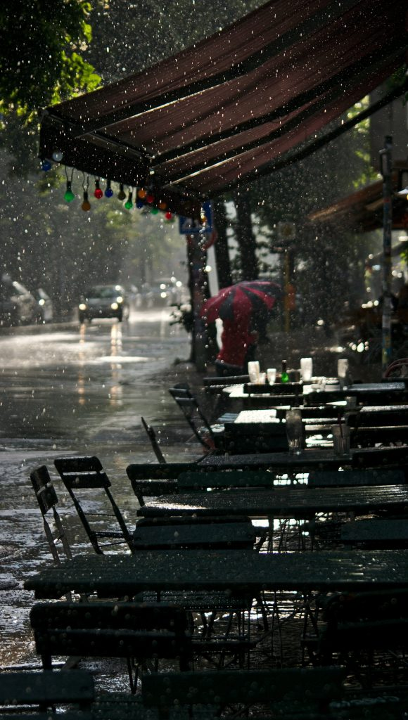 Gewitterregen in Berlin