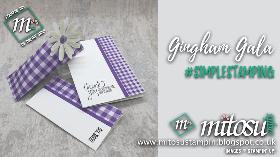 #simplestamping with Gingham Gala from Mitosu Crafts